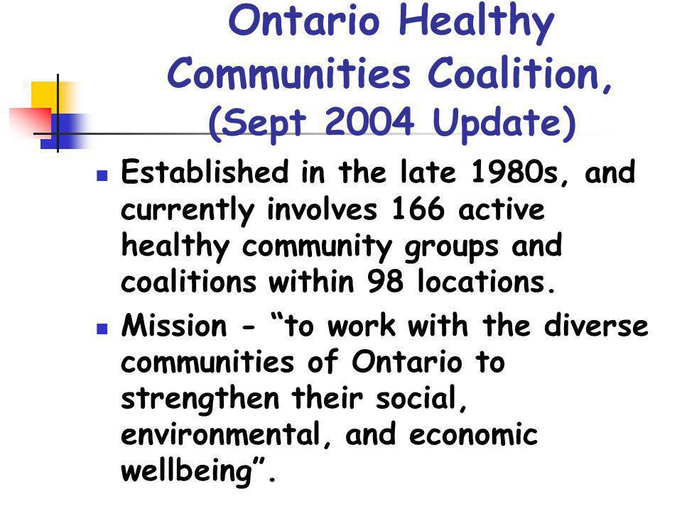 Ontario Healthy Communities Coalition, (Sept 2004 Update)