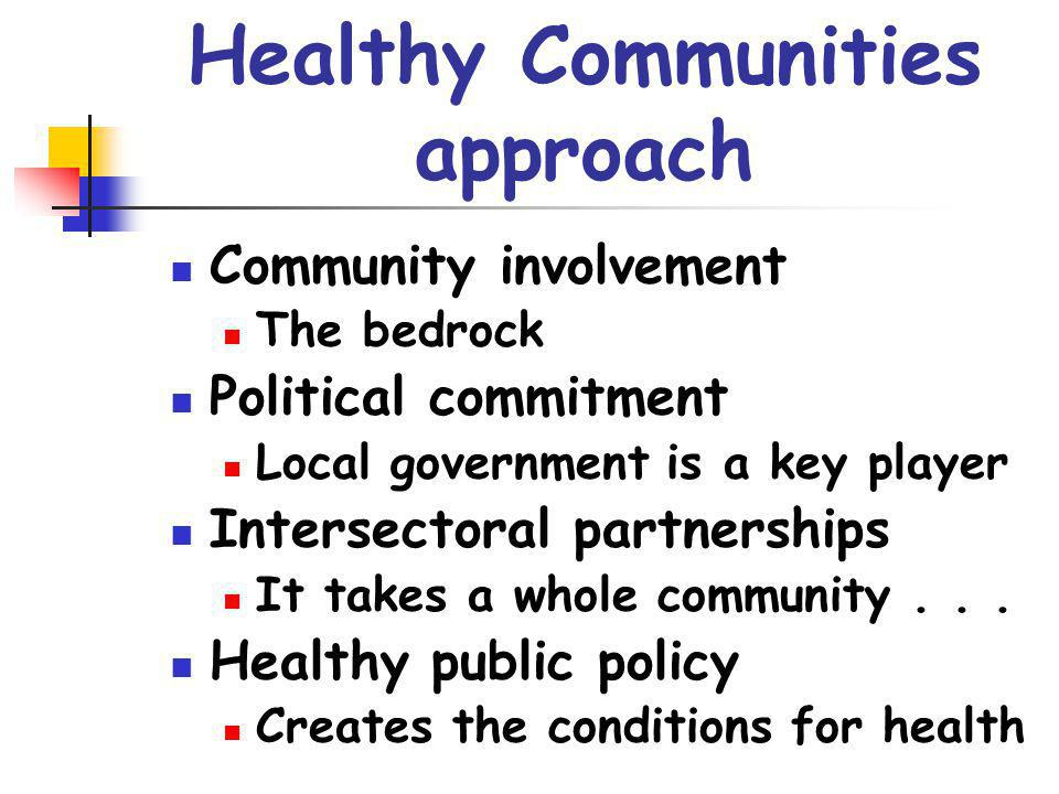 Healthy Communities approach