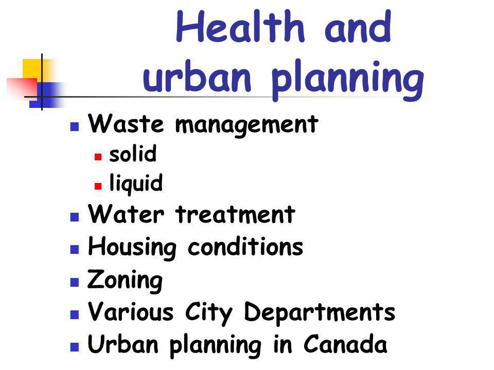 Health and urban planning