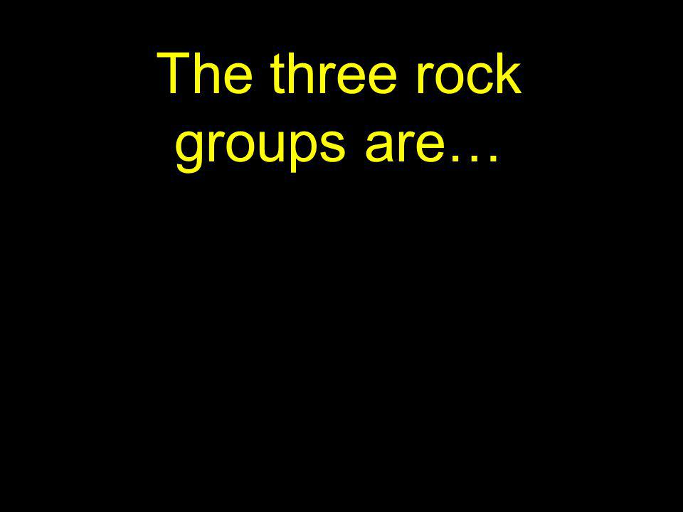 The three rock groups are…
