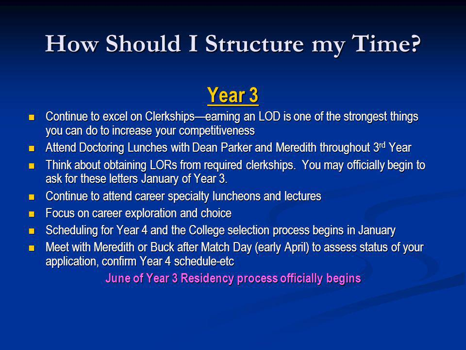 How Should I Structure my Time