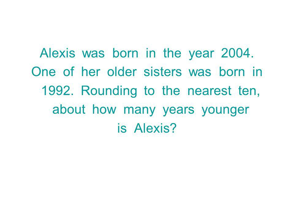 Alexis was born in the year 2004. One of her older sisters was born in
