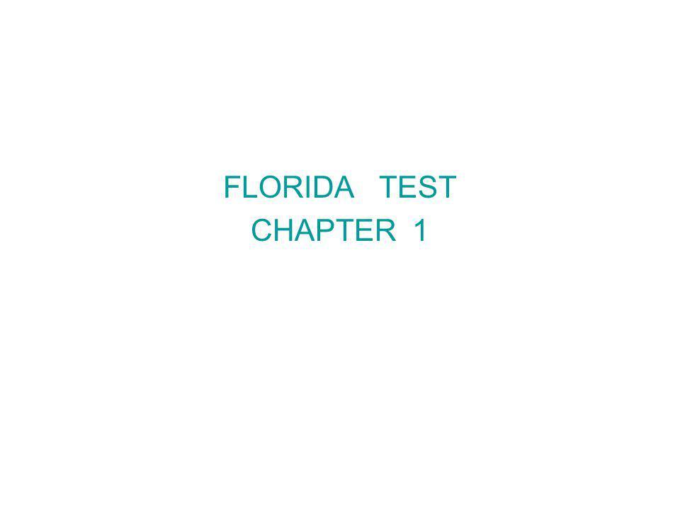 FLORIDA TEST CHAPTER 1