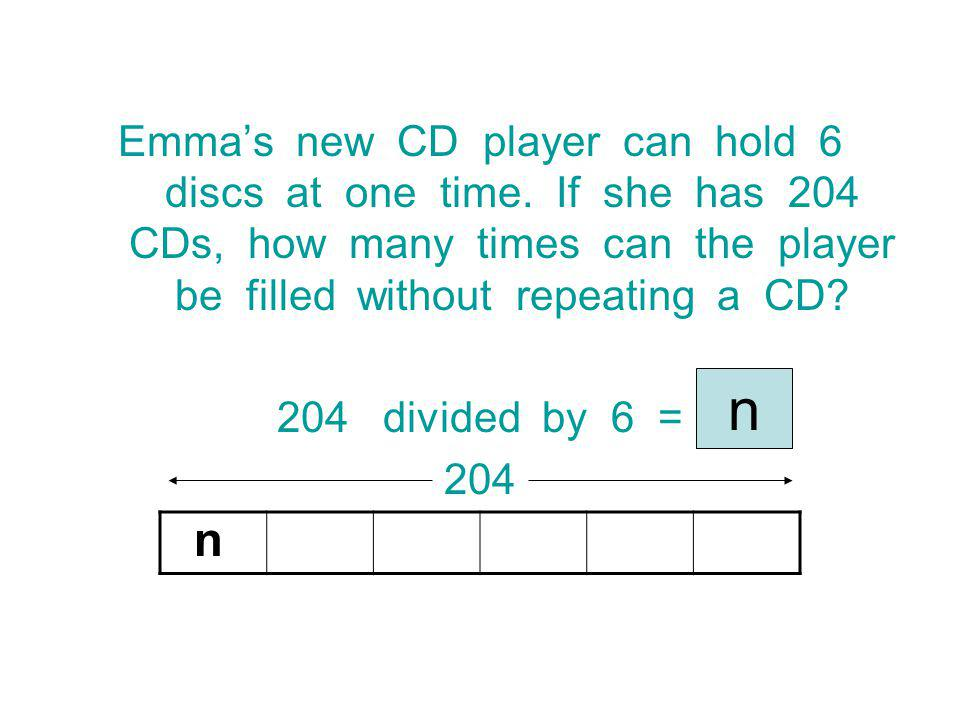 Emma's new CD player can hold 6 discs at one time