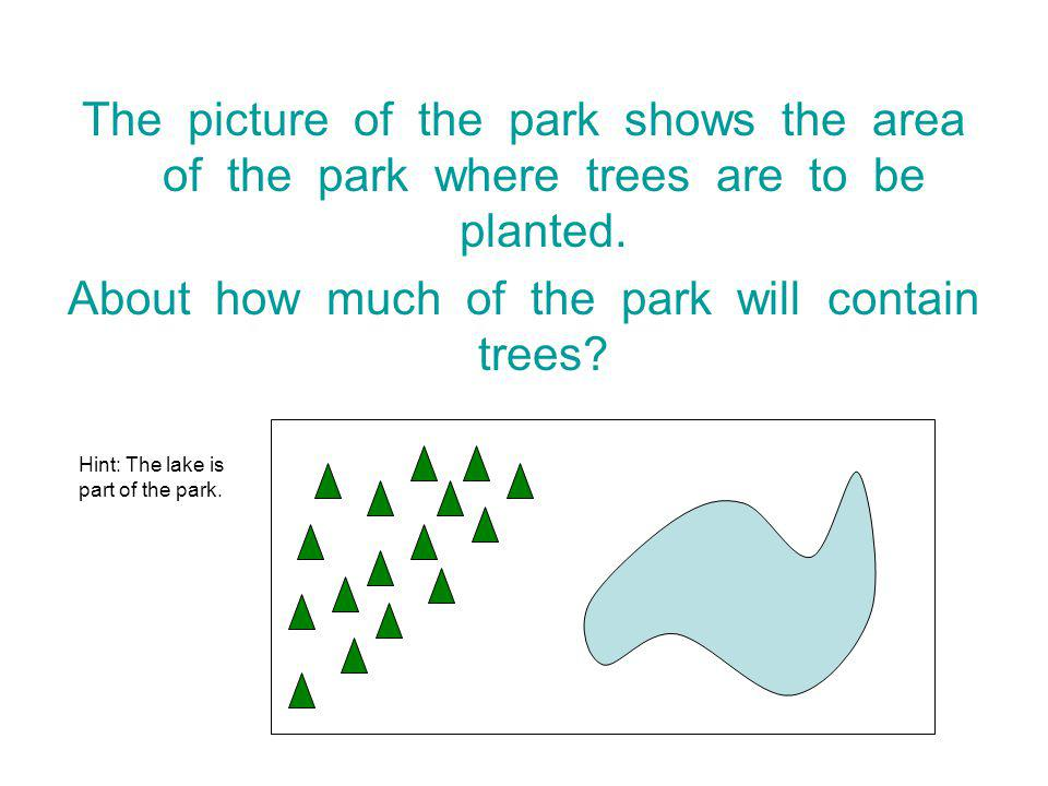 About how much of the park will contain trees
