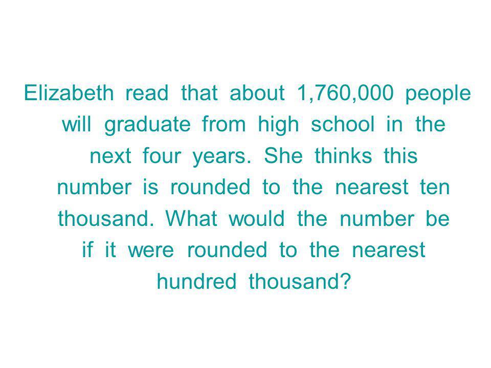 Elizabeth read that about 1,760,000 people