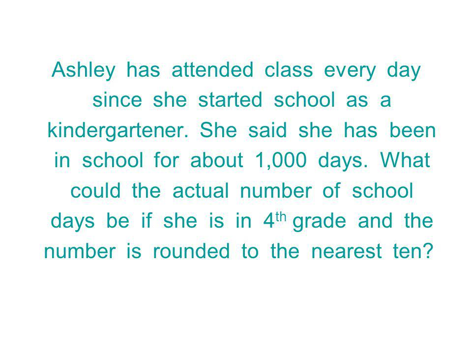 Ashley has attended class every day since she started school as a