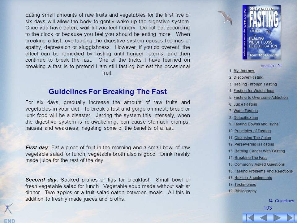 Guidelines For Breaking The Fast