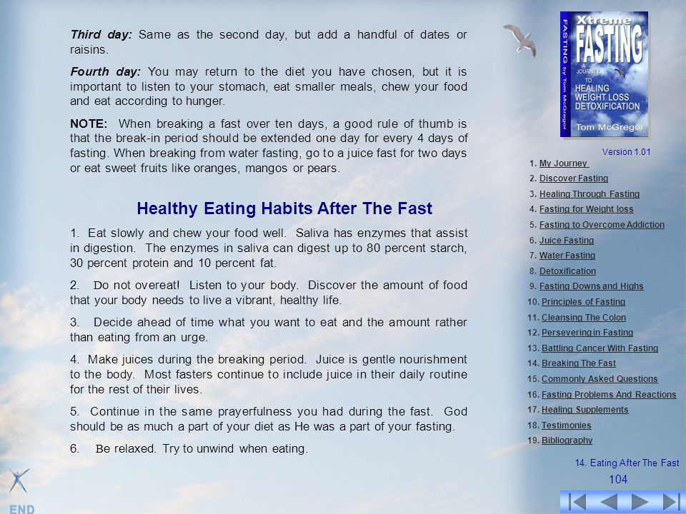 Healthy Eating Habits After The Fast