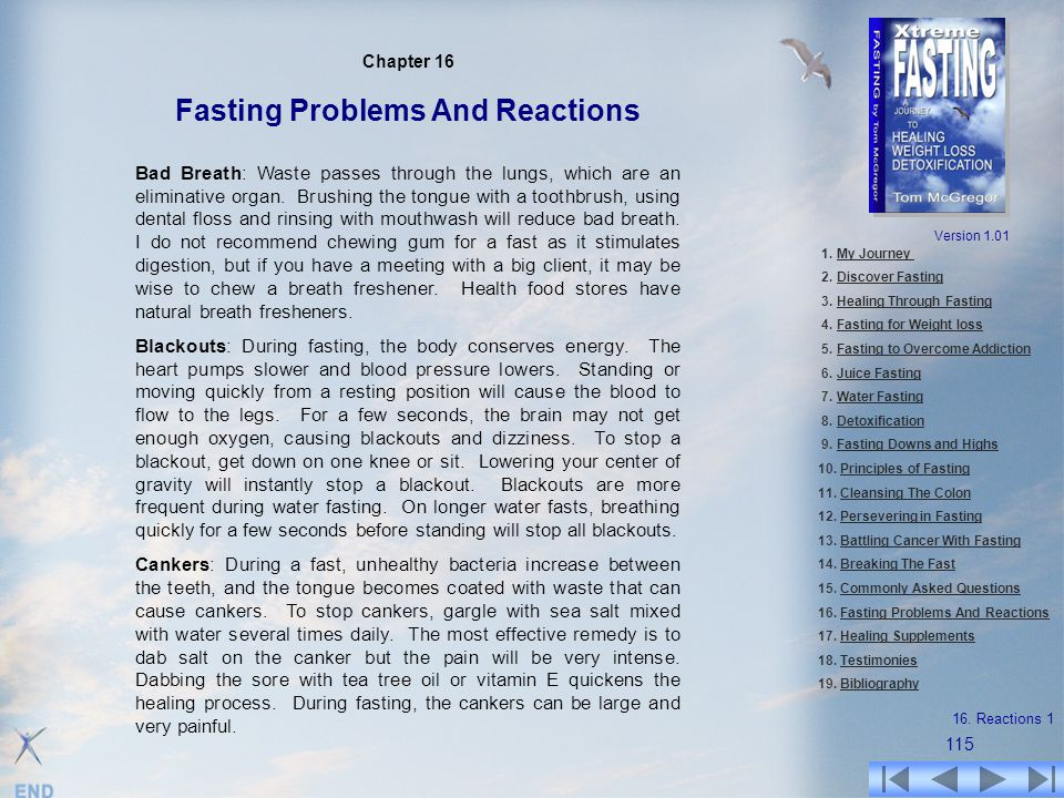 Chapter 16 Fasting Problems And Reactions