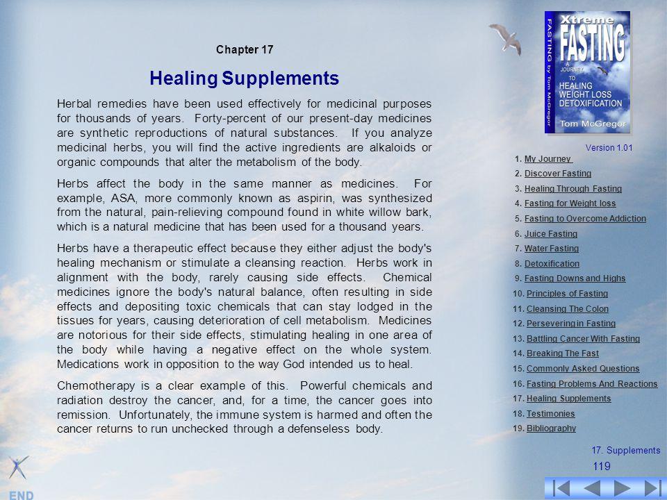 Chapter 17 Healing Supplements.