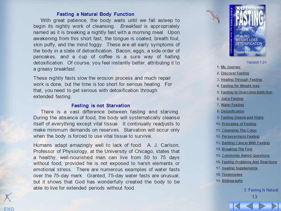 Fasting a Natural Body Function