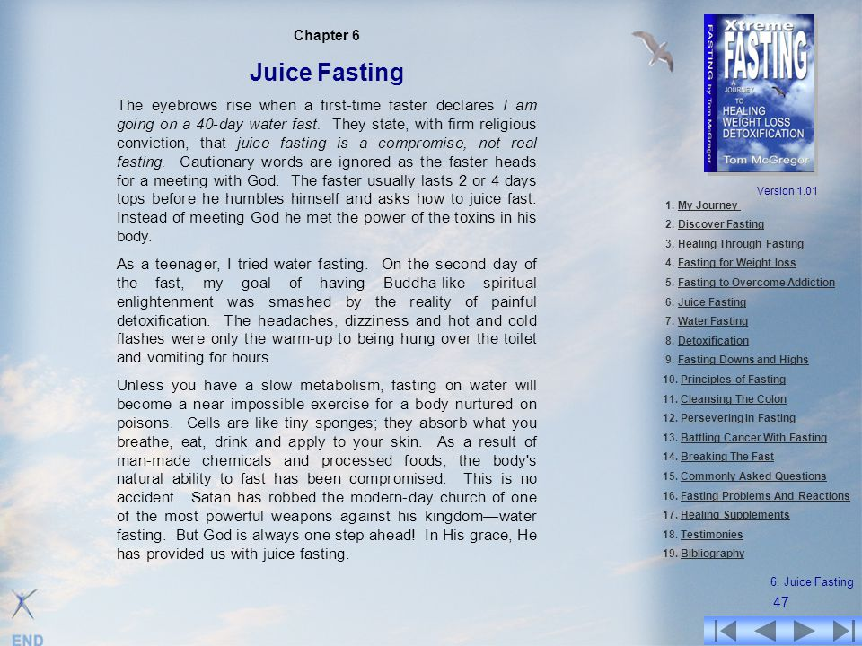 Chapter 6 Juice Fasting.