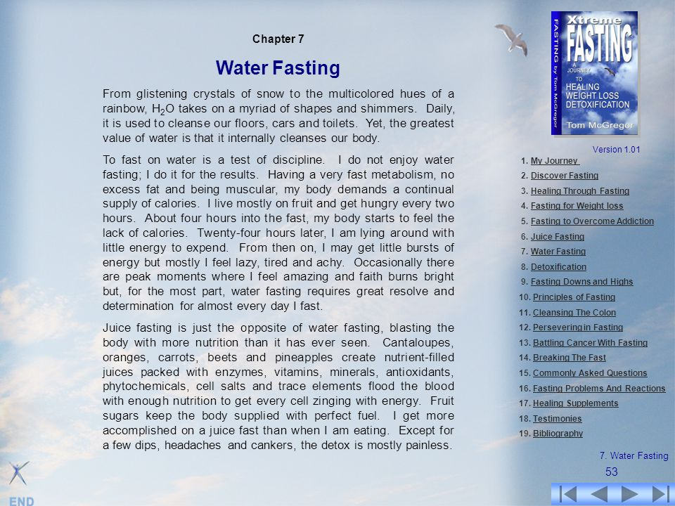 Chapter 7 Water Fasting.