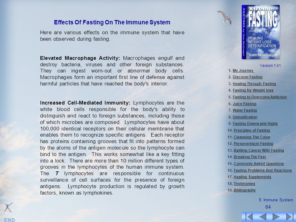 Effects Of Fasting On The Immune System