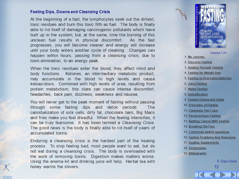 Fasting Dips, Downs and Cleansing Crisis