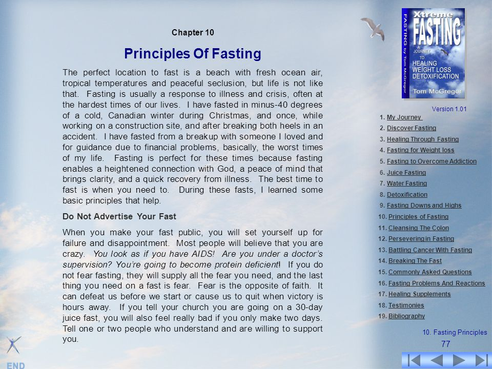 Chapter 10 Principles Of Fasting.
