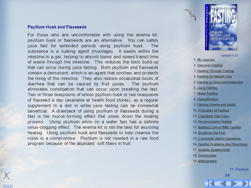 Psyllium Husk and Flaxseeds