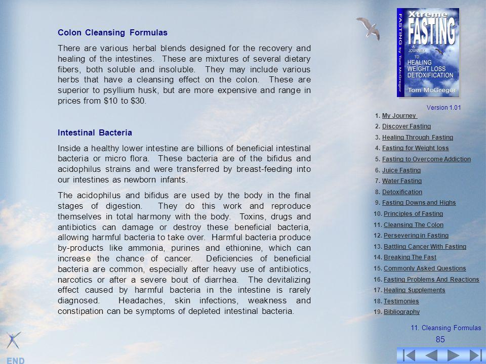Colon Cleansing Formulas