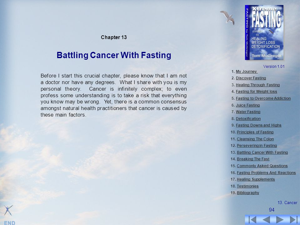 Chapter 13 Battling Cancer With Fasting