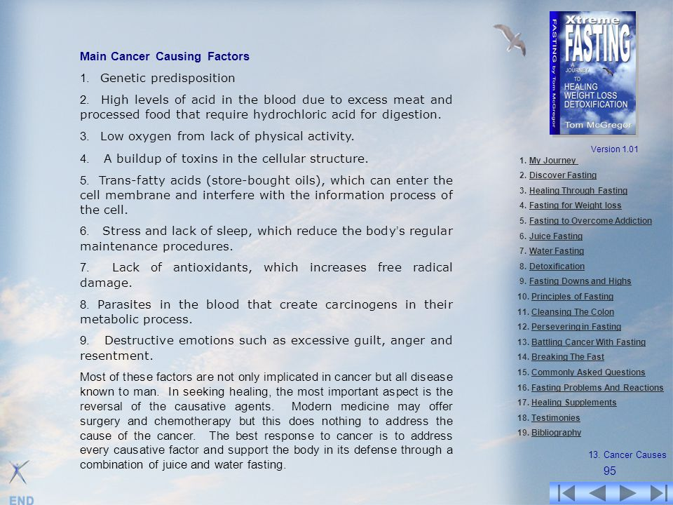 Main Cancer Causing Factors 1. Genetic predisposition