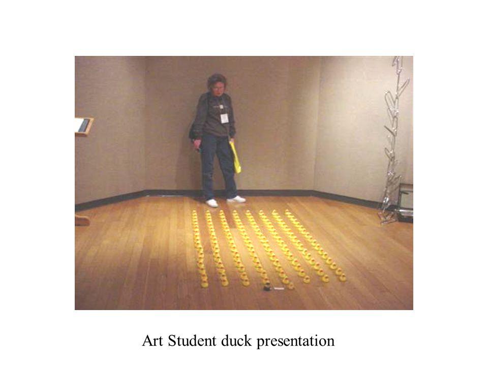 Art Student duck presentation