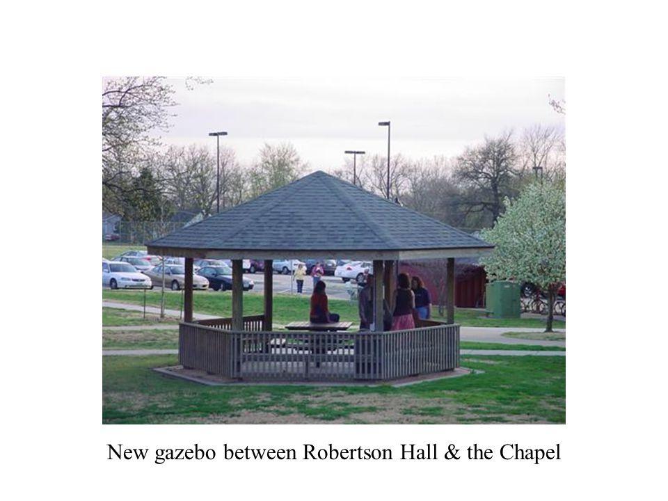 New gazebo between Robertson Hall & the Chapel