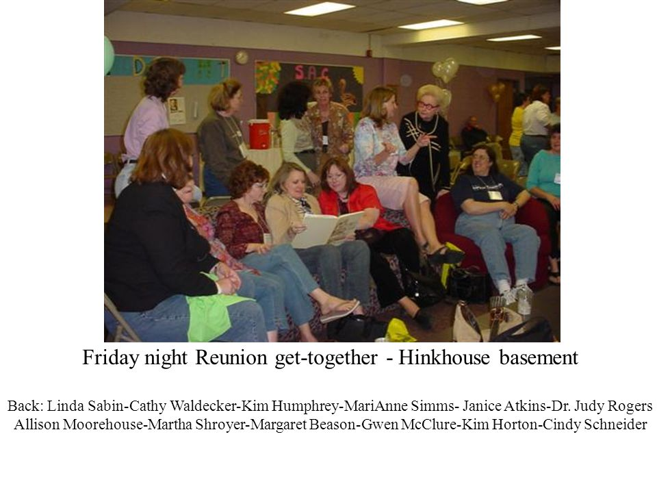 Friday night Reunion get-together - Hinkhouse basement