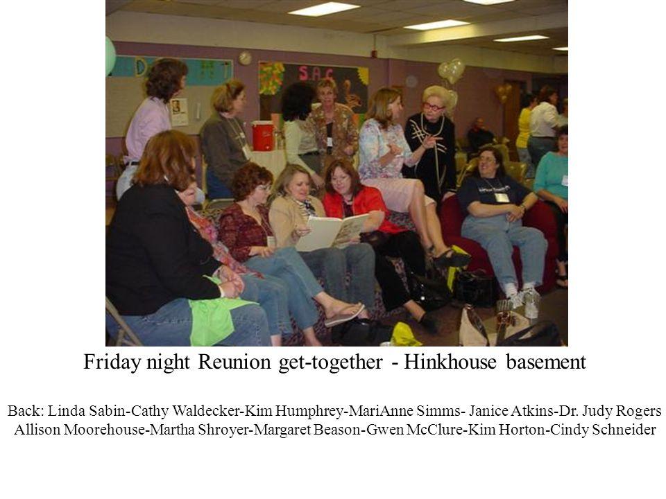 Friday night Reunion get-together - Hinkhouse basement