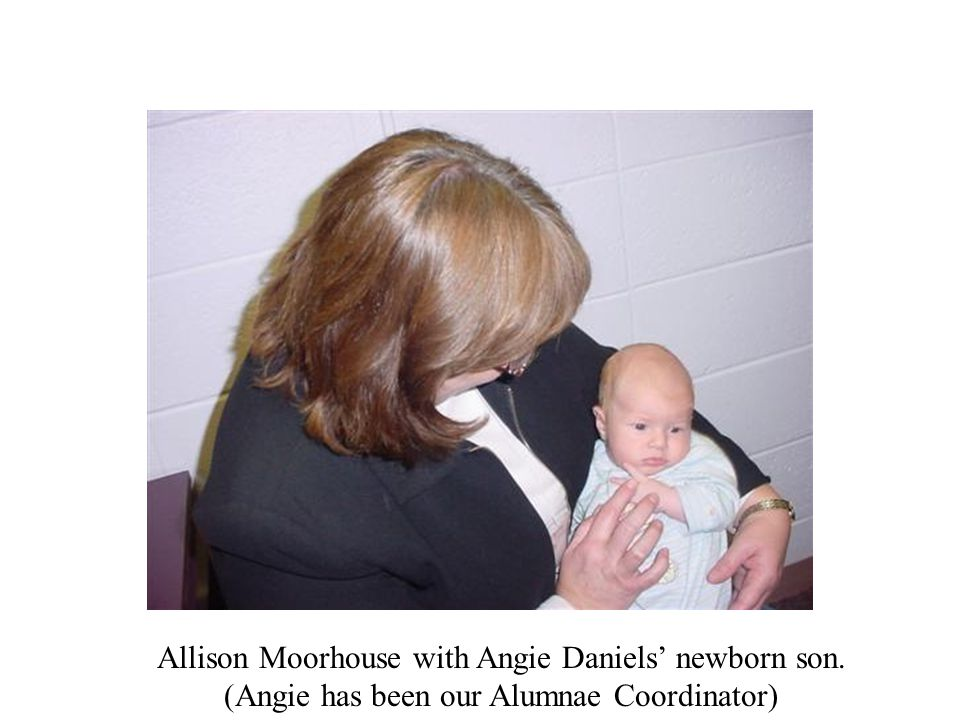Allison Moorhouse with Angie Daniels' newborn son.