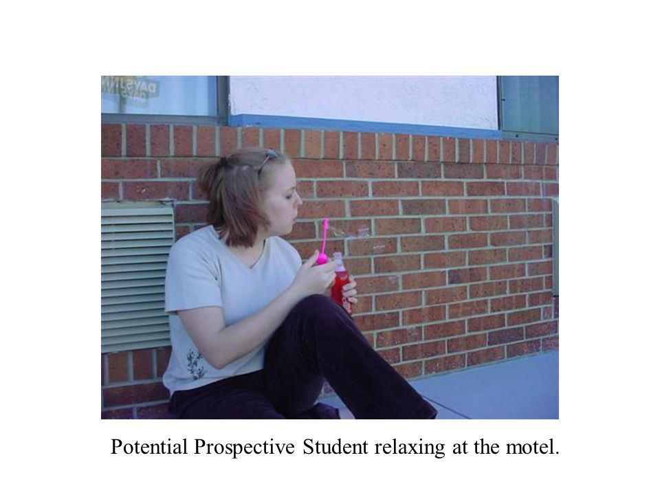 Potential Prospective Student relaxing at the motel.