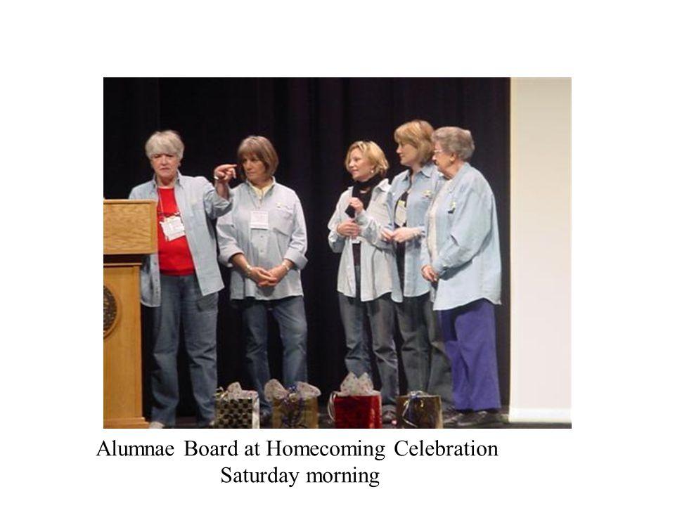 Alumnae Board at Homecoming Celebration