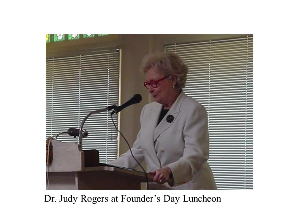 Dr. Judy Rogers at Founder's Day Luncheon