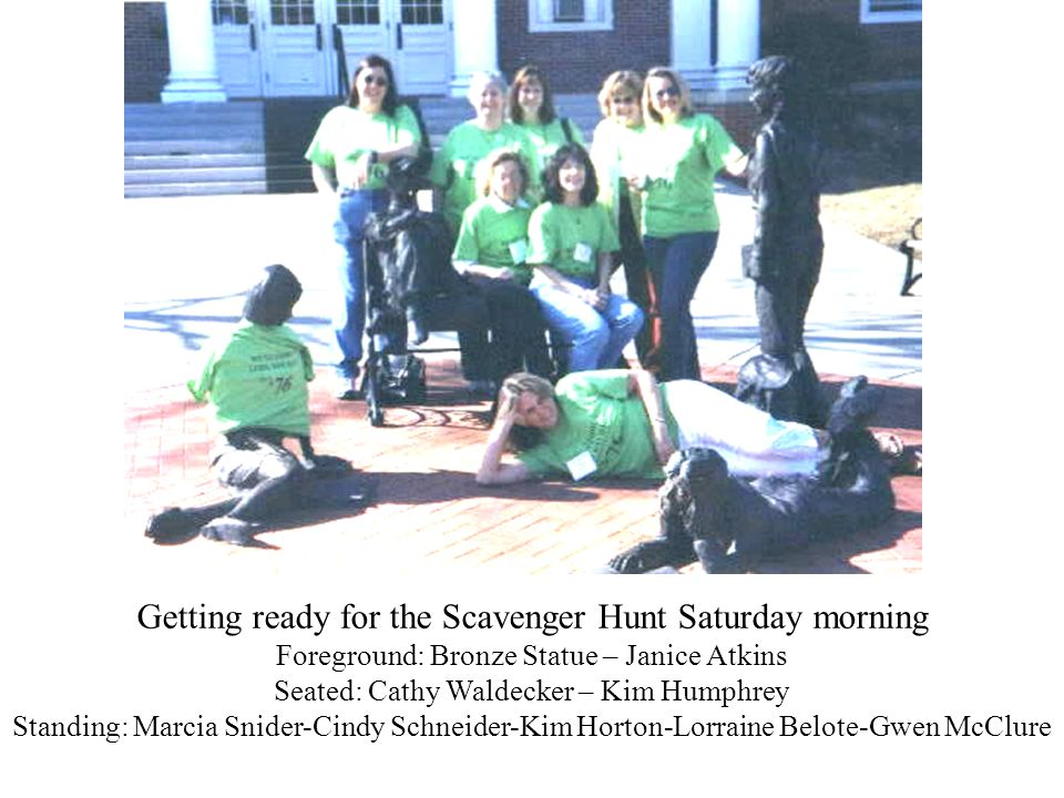 Getting ready for the Scavenger Hunt Saturday morning