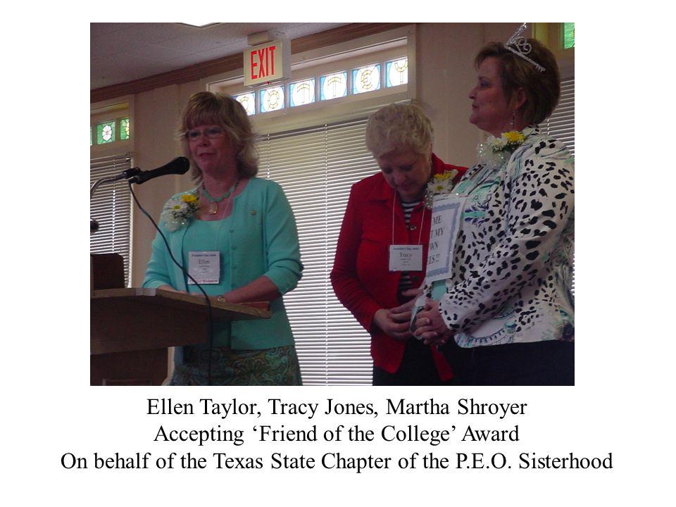 Texas peos Ellen Taylor, Tracy Jones, Martha Shroyer