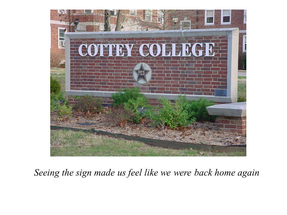 Seeing the sign made us feel like we were back home again