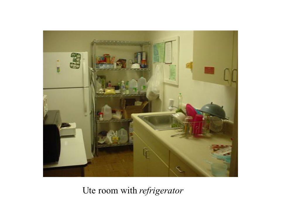 Ute room Ute room with refrigerator