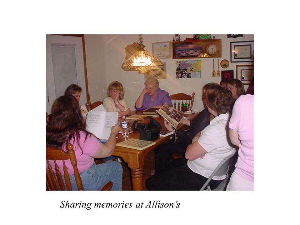 Sharing memories at Allison's