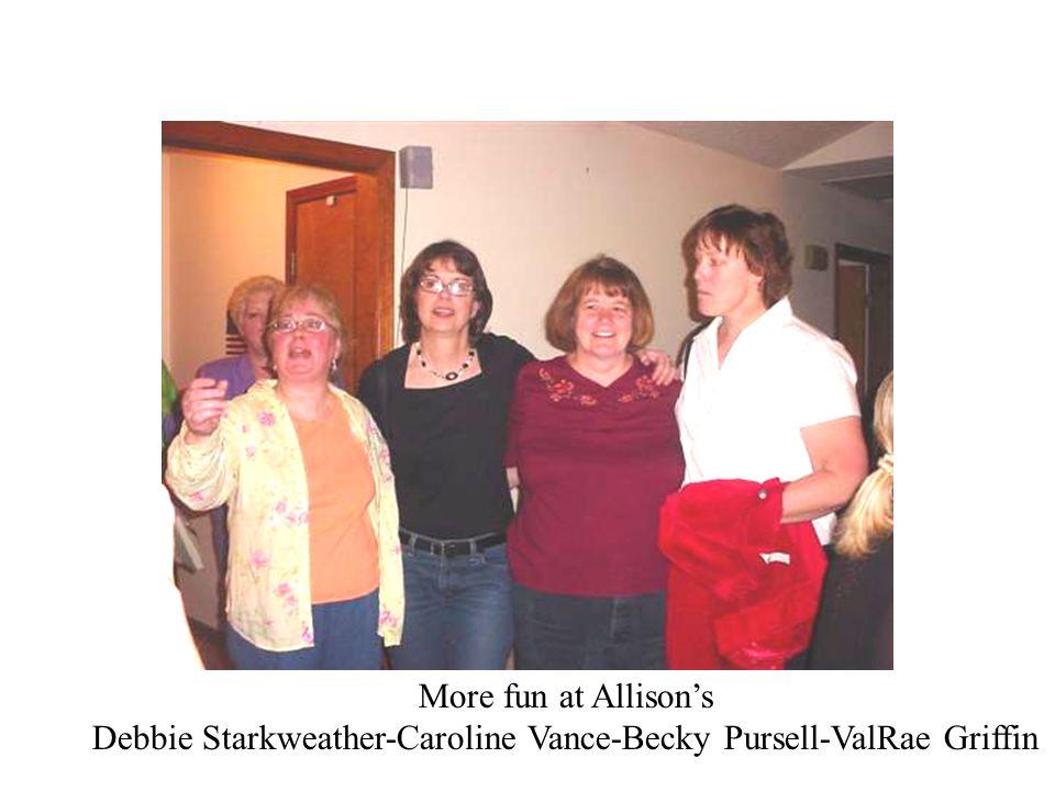 Debbie Starkweather-Caroline Vance-Becky Pursell-ValRae Griffin
