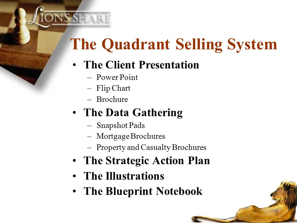 The Quadrant Selling System