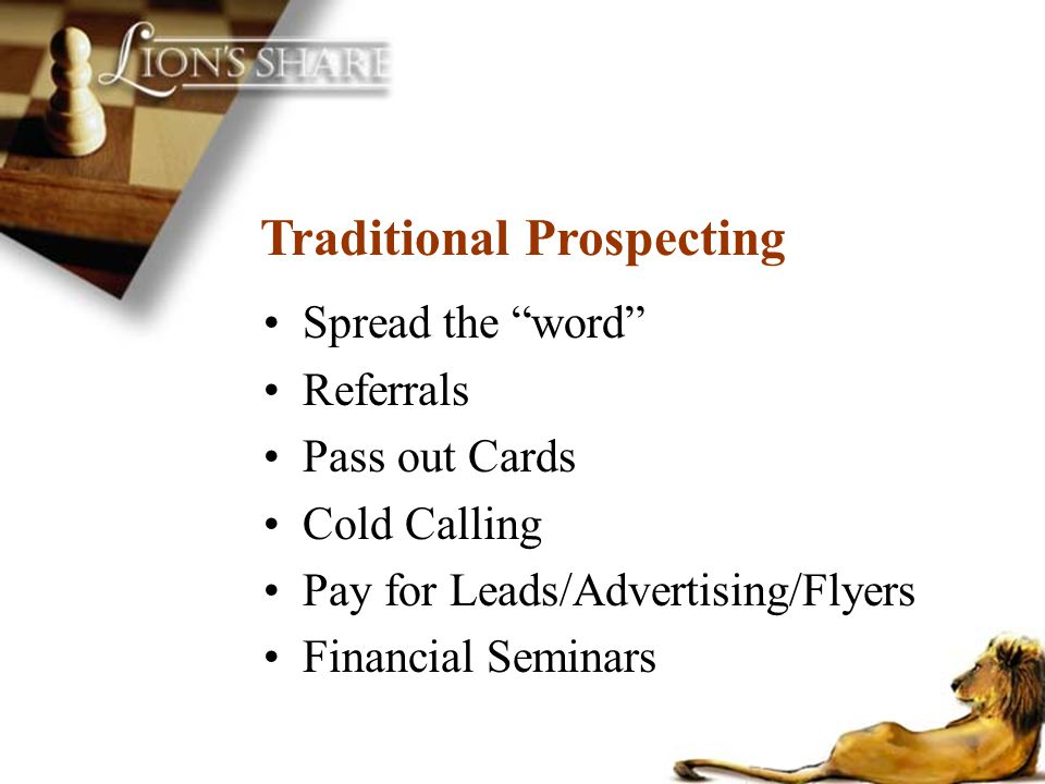 Traditional Prospecting