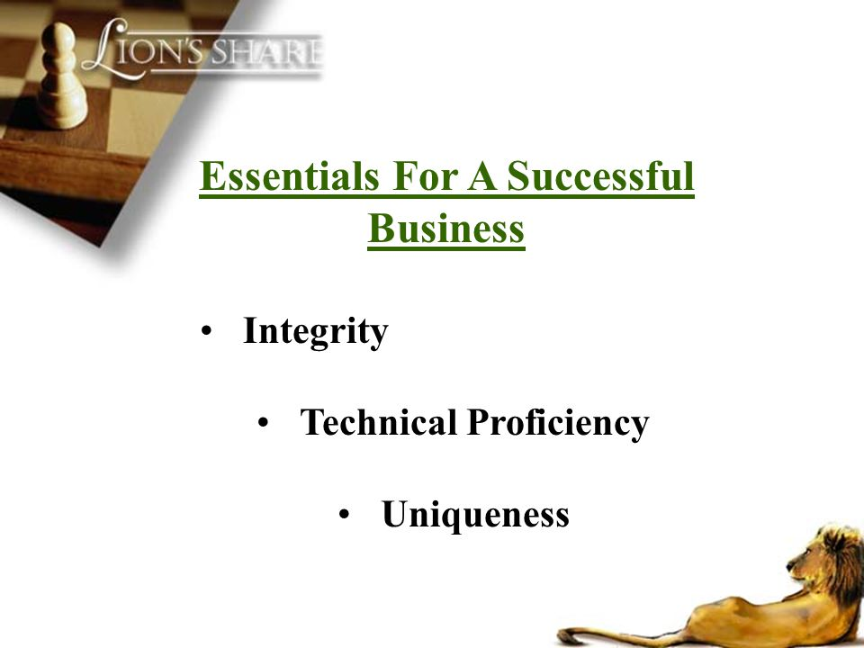 Essentials For A Successful Business Technical Proficiency