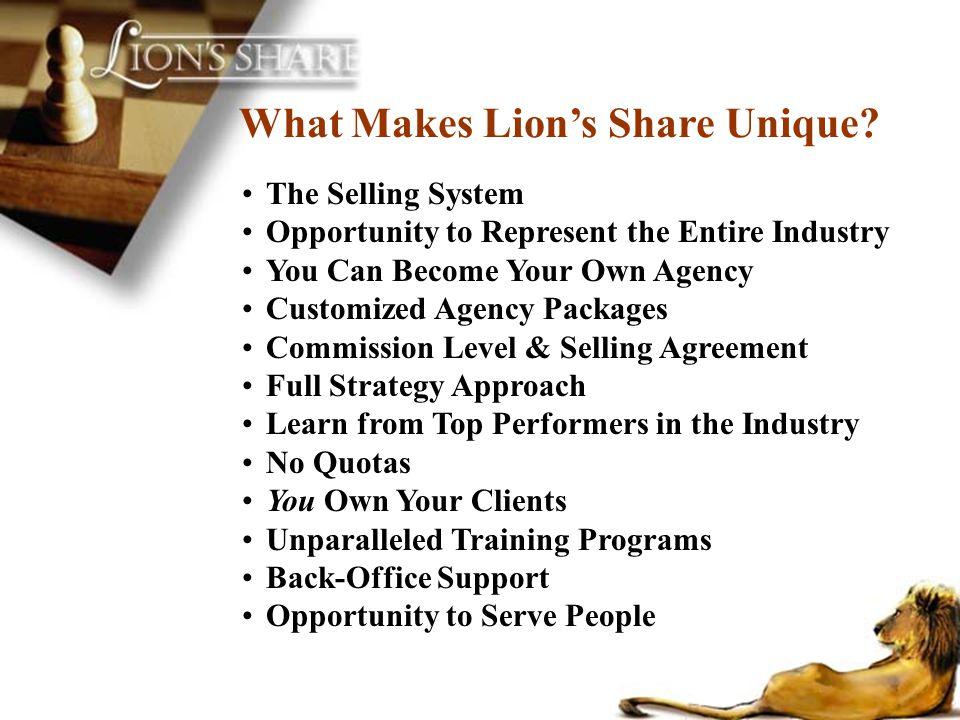 What Makes Lion's Share Unique