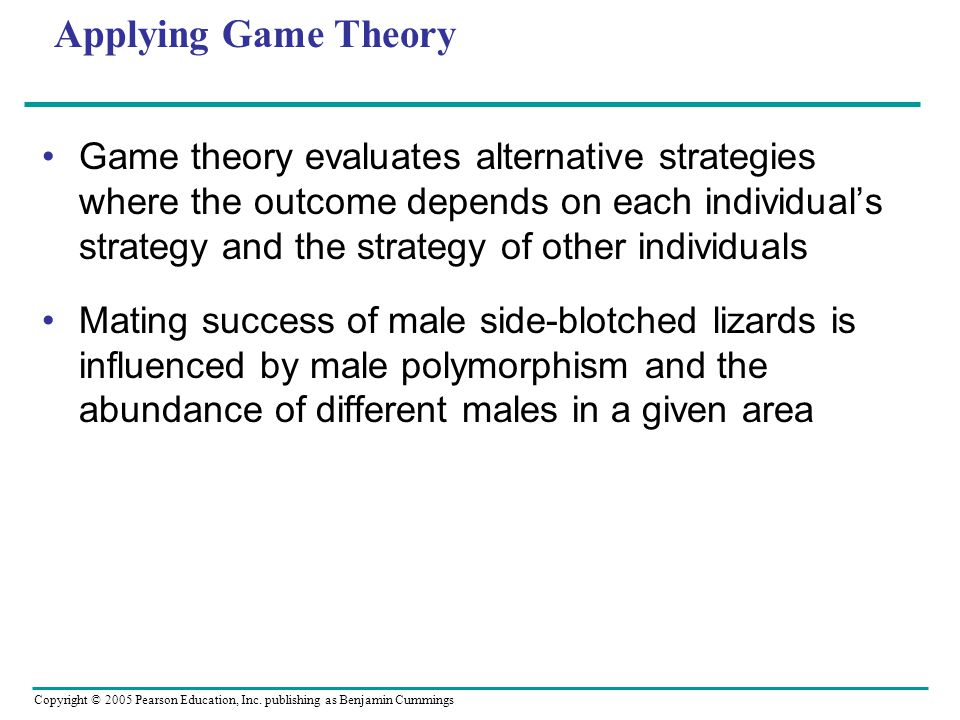 Applying Game Theory