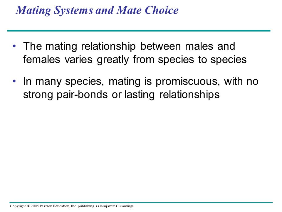 Mating Systems and Mate Choice