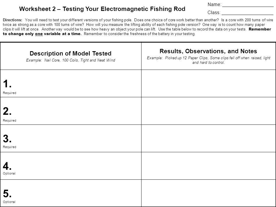 Electromagnetic Fishing Derby ppt download – Electromagnetism Worksheet