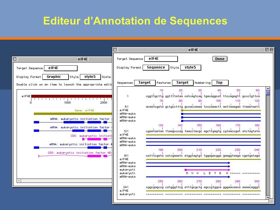 Editeur d'Annotation de Sequences