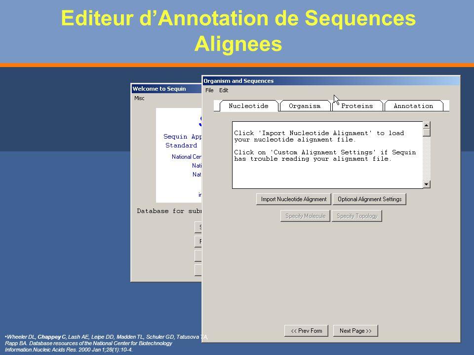 Editeur d'Annotation de Sequences Alignees