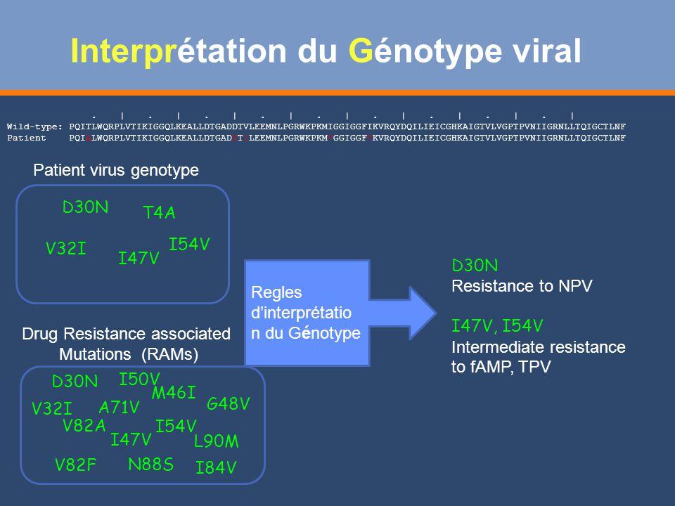 Interprétation du Génotype viral