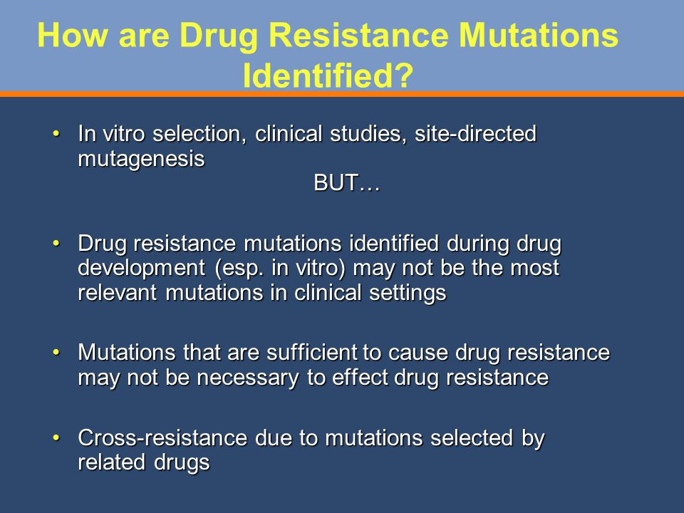 How are Drug Resistance Mutations Identified